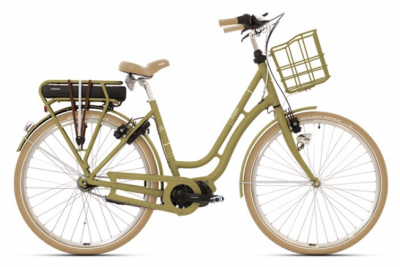 DAMESFIETS FRAPPE ELECTRIC FSC 200  NEXUS 7 MATT GREEN